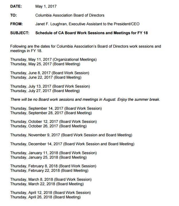 2017-2018 CA board meeting