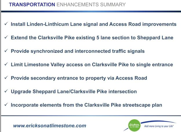 Senior Living Home at Clarksville-Transportation Plan